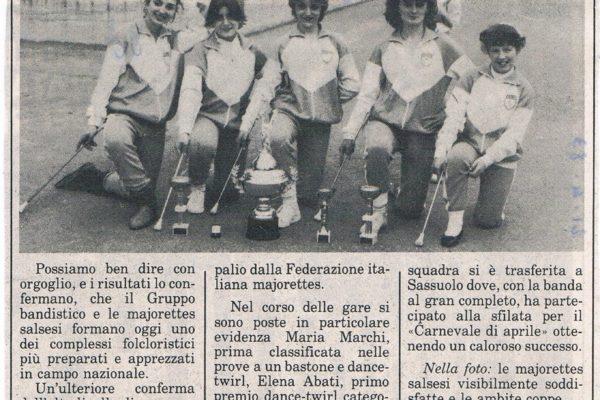1983 - Trofeo Regionale di Twirling a vignola