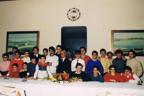 1985 - Cena Sociale, con il Maestro Fusi