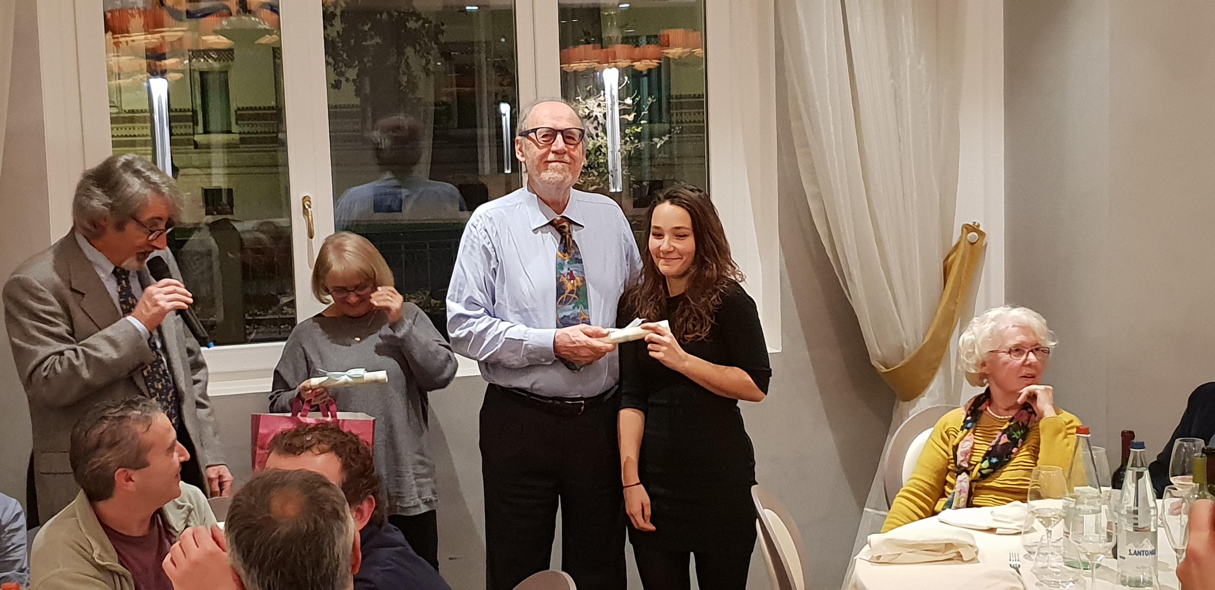 Il presidente Maurizio Colombini con Ophélie Grégoire